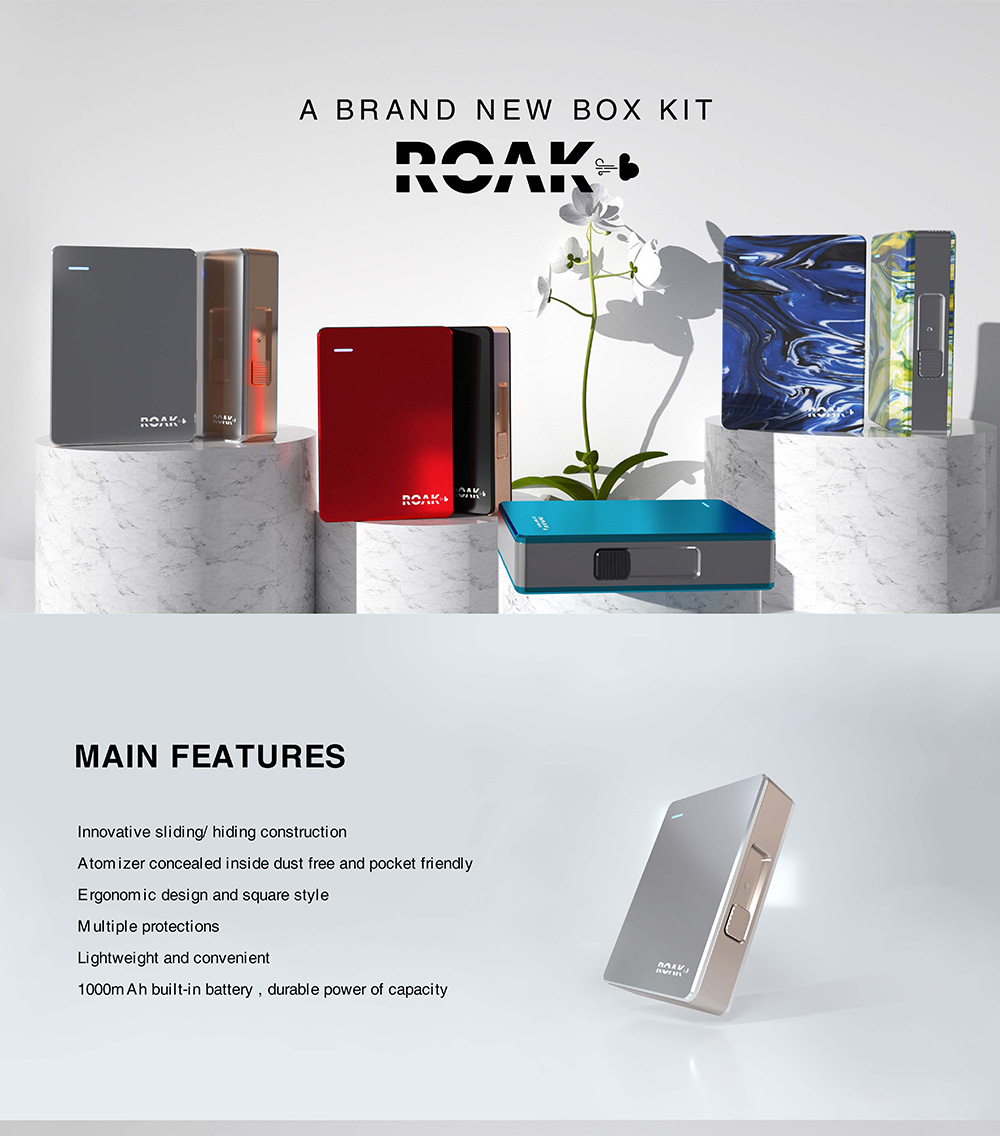 Myvapors Roak Box Pod Kit main features