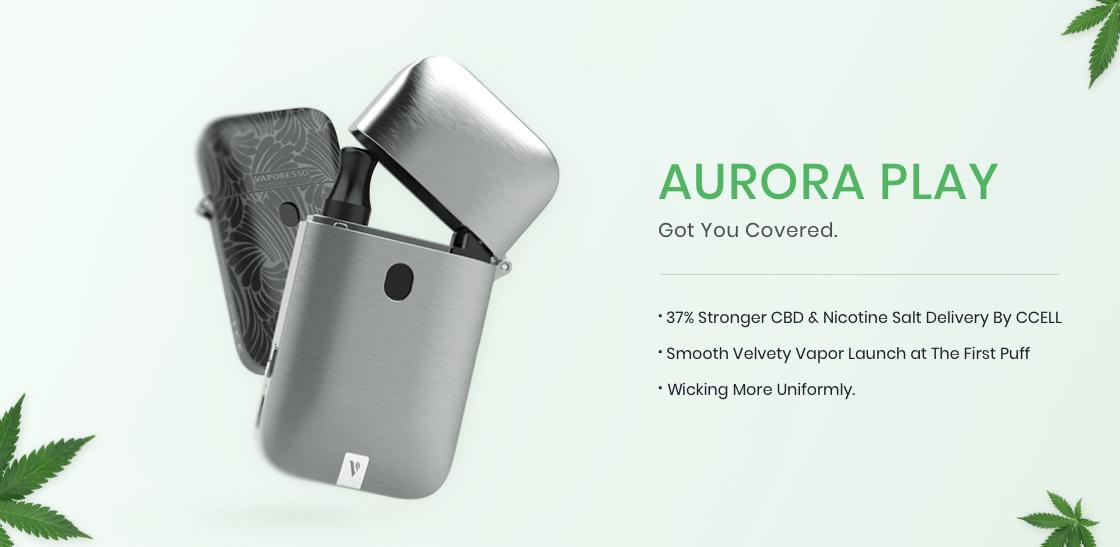 Vaporesso Aurora Play Pod System Kit with beautiful design