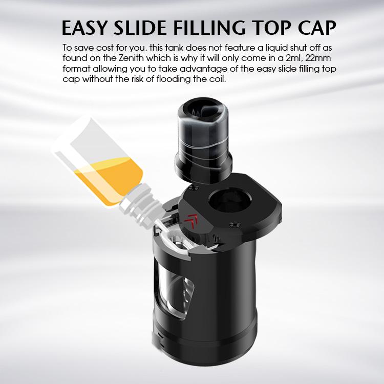 Innokin Zlide Tank Easy slide filling top cap