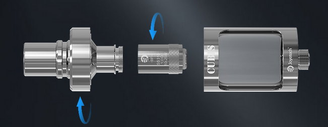 the replacement of joyetech cubis atomizer head