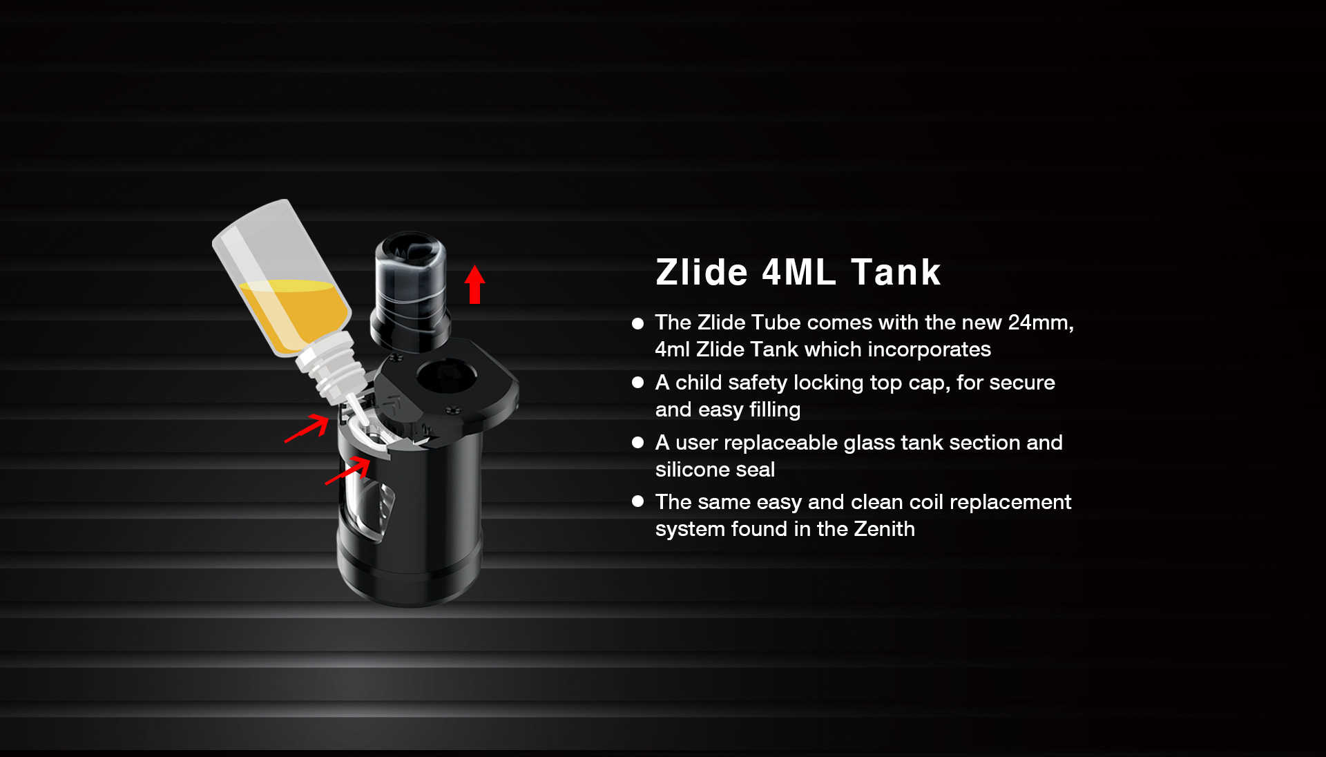 Innokin zlide Tube 4ml tank