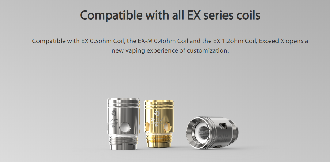 Joyetech EXCEED X Kit Compatible with all EX series coils