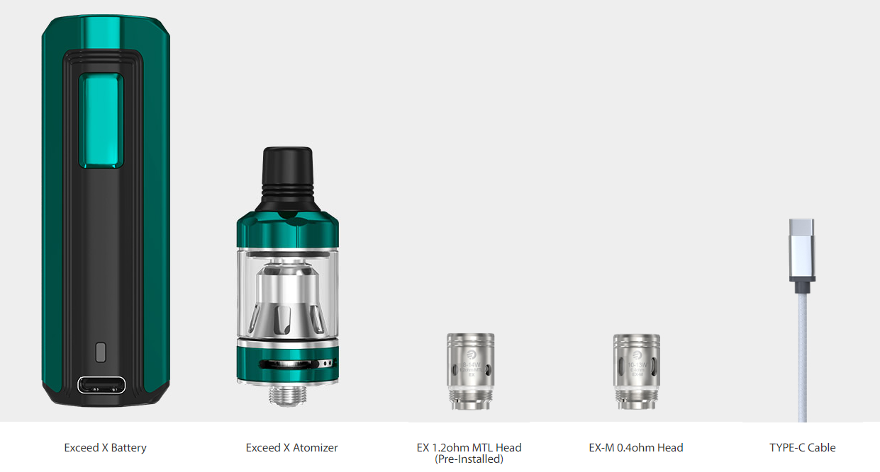 Joyetech EXCEED X Kit Package contents