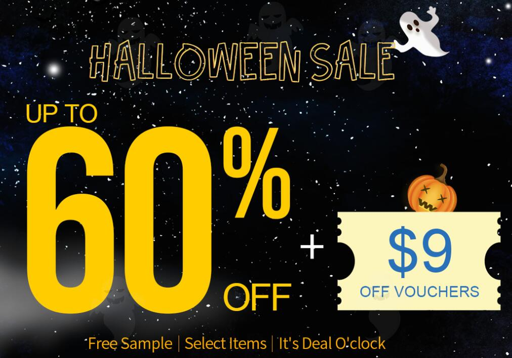 Special Halloween Event And Big Discount Promotions