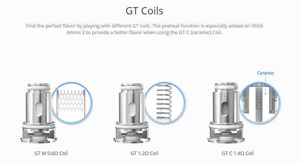Eleaf iStick Amnis 2 Kit GT Coils