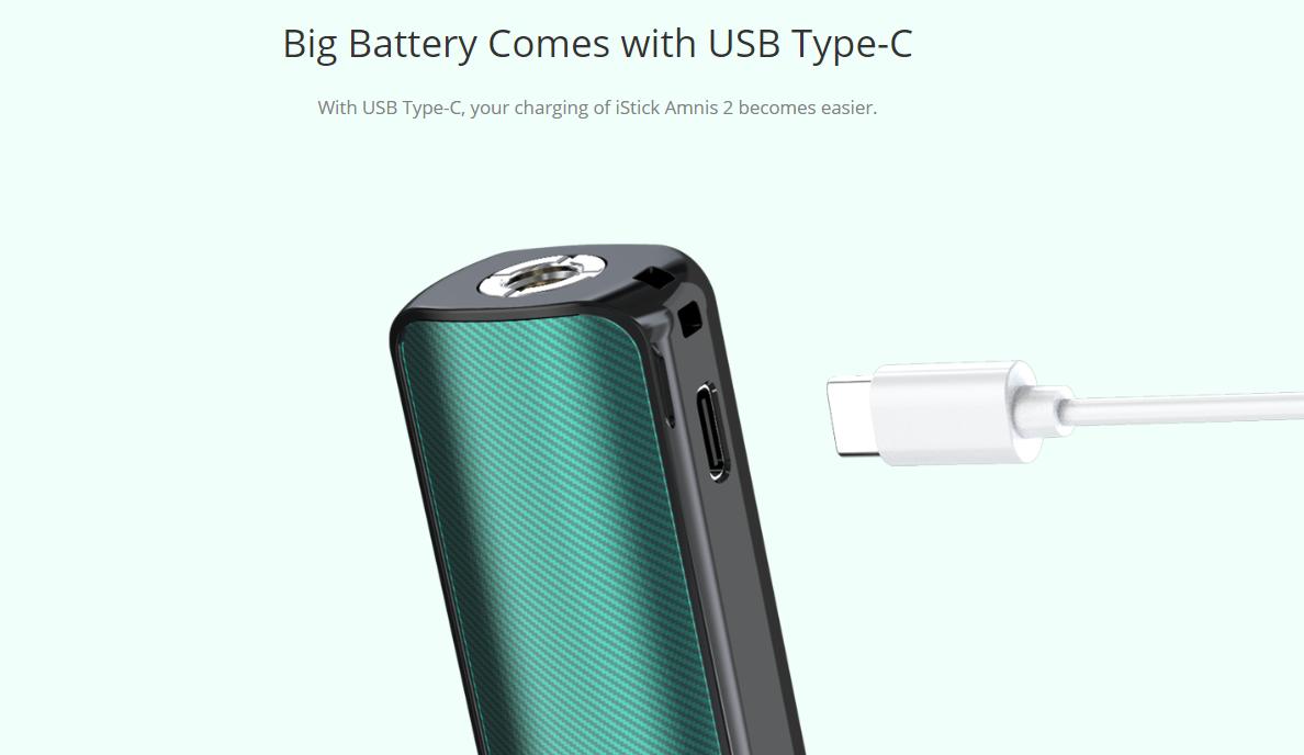 Eleaf iStick Amnis 2 Kit USB Type C Charging