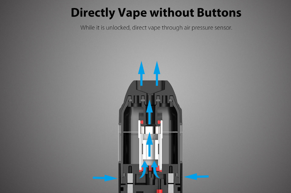 Uwell Caliburn Kit Directil Vape without buttons