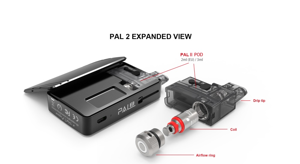 artery pal 2 kit 1000mah pod kit view