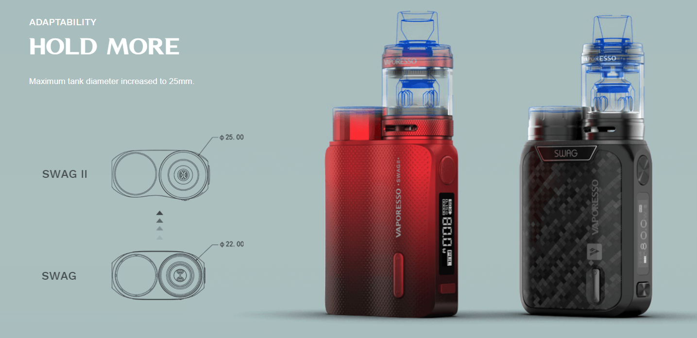 Vaporesso Swag 2 Adaptability Hold More