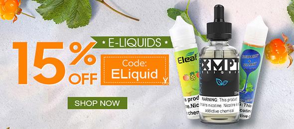 ALL E-Liquids 15%OFF