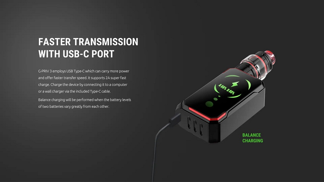Fast charging Smok G Priv 3