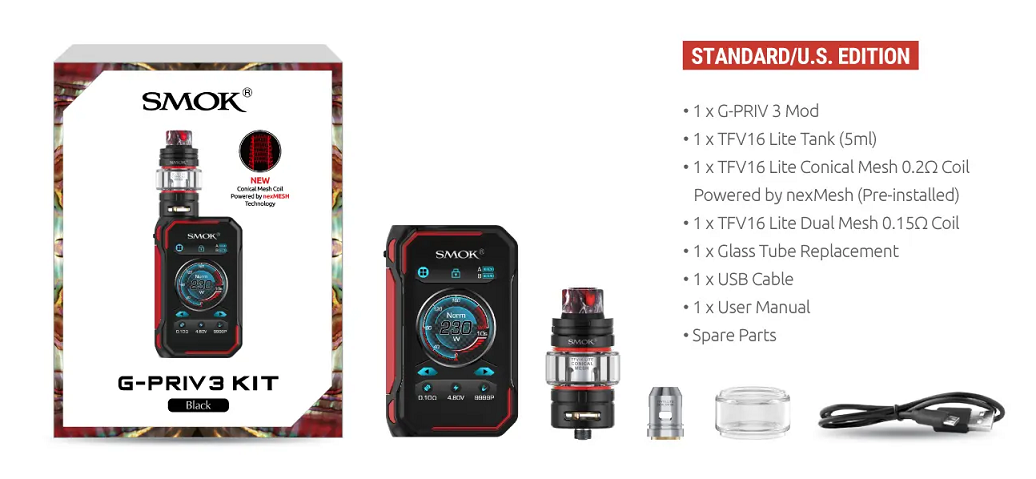 Smok G Priv 3 Kit Includes