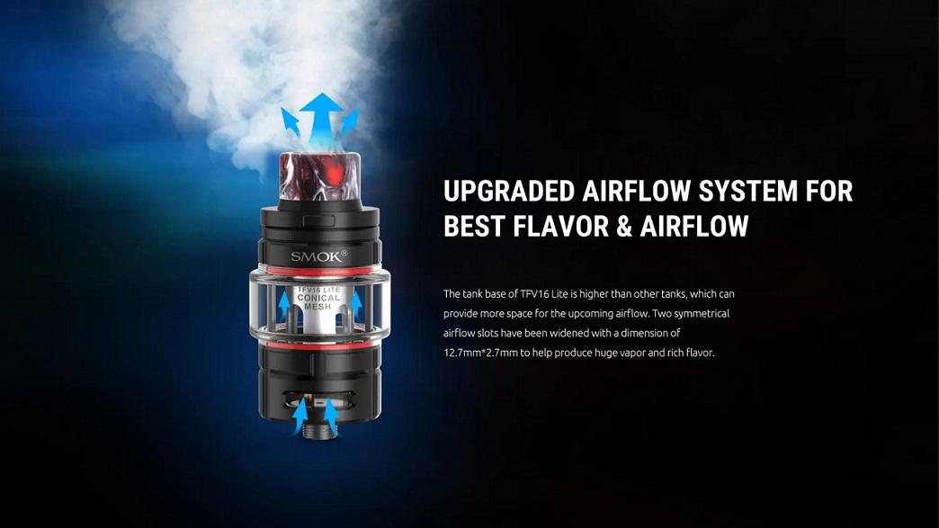 Smok TFV16 Lite Tank upgraded airflow system