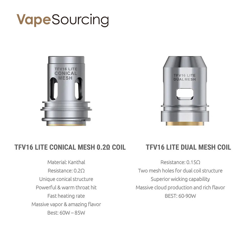 Smok TFV16 Lite Two type replacement coils