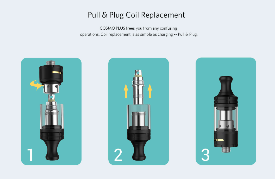 Cosmo Plus Pull and Plug Coil Replacement