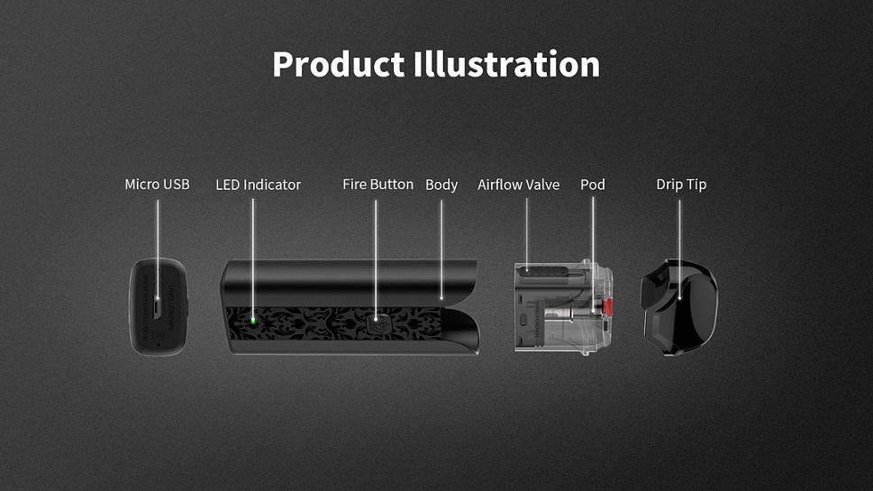 Uwell Crown Pod kit product illustration