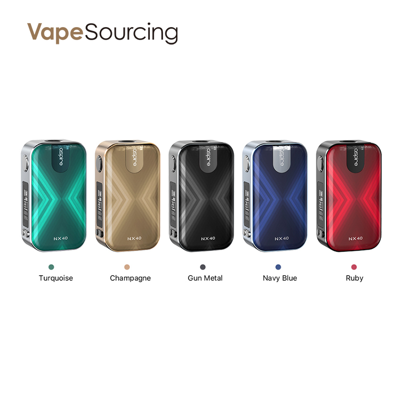Aspire NX40 Box Mod 40W Colors