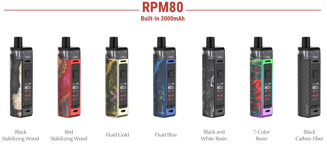 SMOK RPM80 Kit 7 colors available