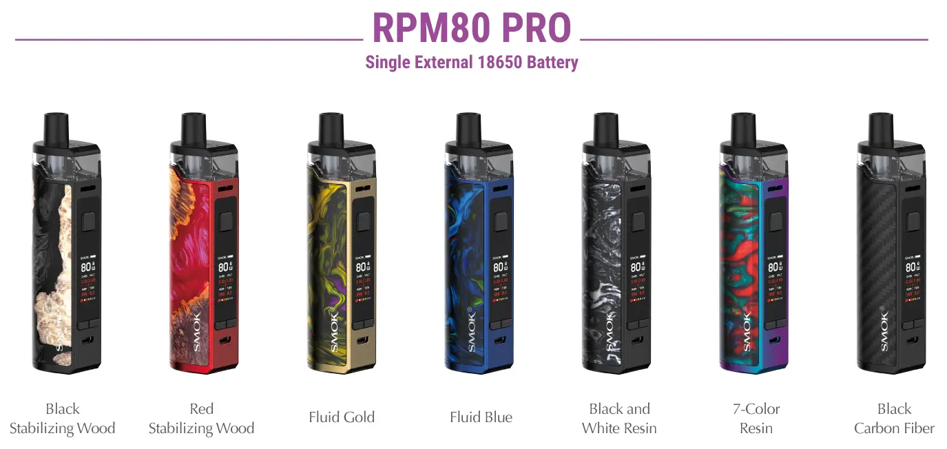 SMOK RPM80 Pro Kit 7 colors available