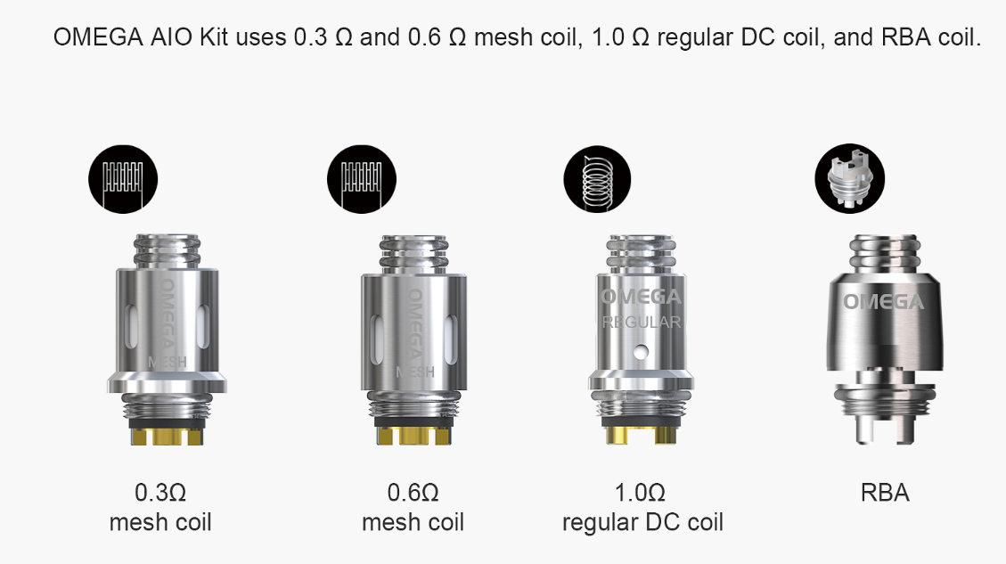 think vape omega multiple coils option