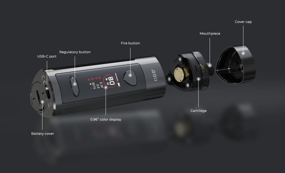 Componentes Wismec R80