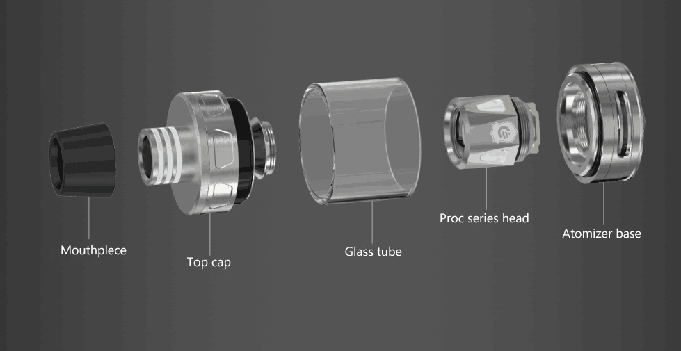 structure of Joyetech ProCore Aries Atomizer