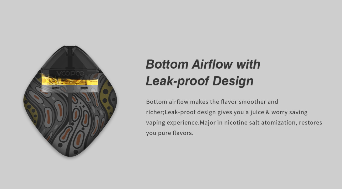Bottom Airflow with Leak-proof Design