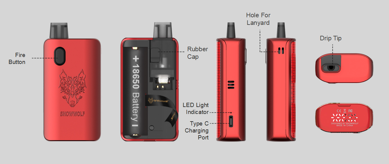 Snowwolf Afeng Mod Pod Kit 22W Different Product Views