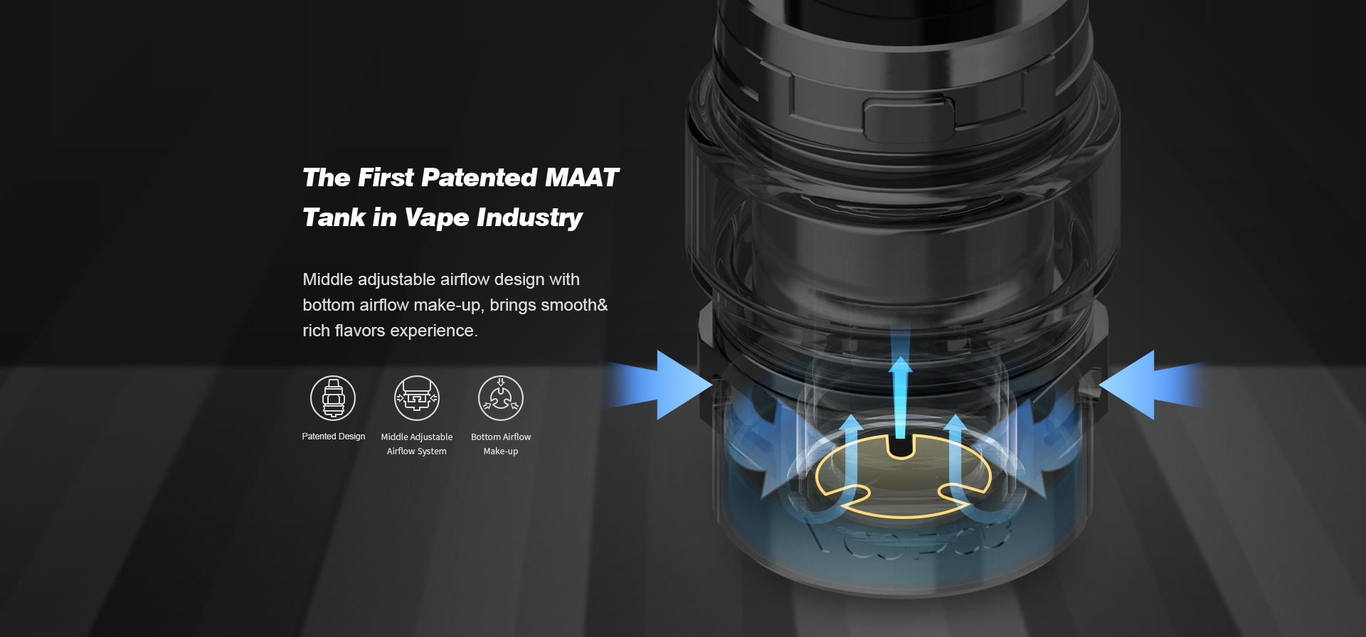 VOOPOO Maat Sub Ohm Tank The First Patented MAAT Tank