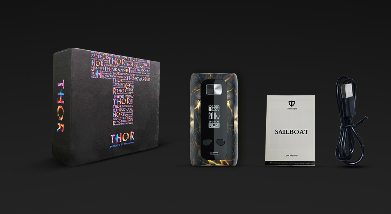 Think Vape Thor TC Box Mod Package