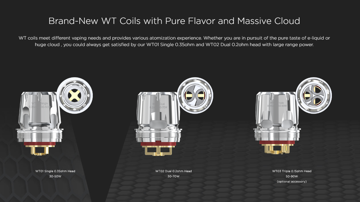 Brand-New WT Coils with Pure Flavor and Massive Cloud