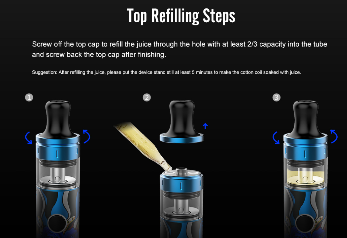 Top Refilling Steps