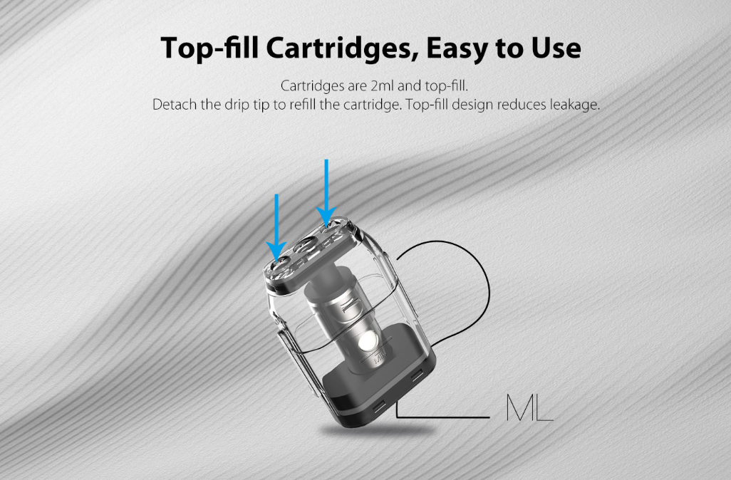 Uwell Caliburn Pod System Kit 2ml Cartridges
