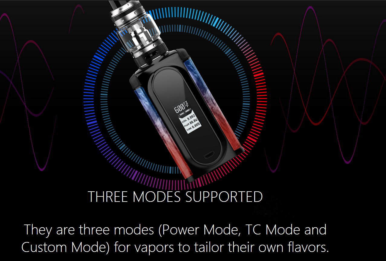 VOOPOO Vmate Kit 200W With UFORCE T1 Tank The Modes Supported