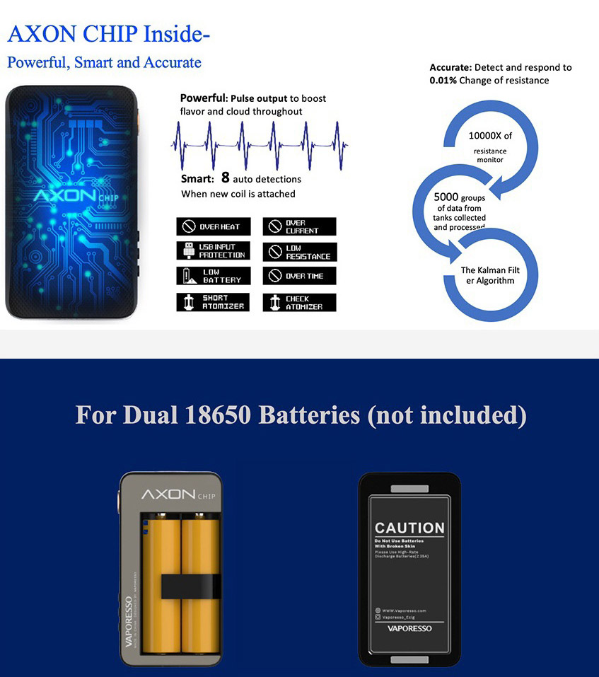 Vaporesso GEN TC Box Mod 18650 battery