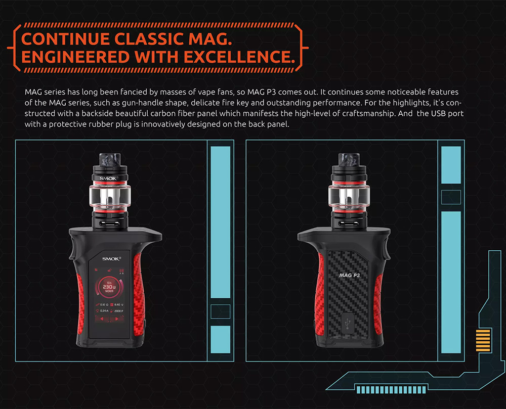 Smok Mag P3 Kit Engineered with Excellence