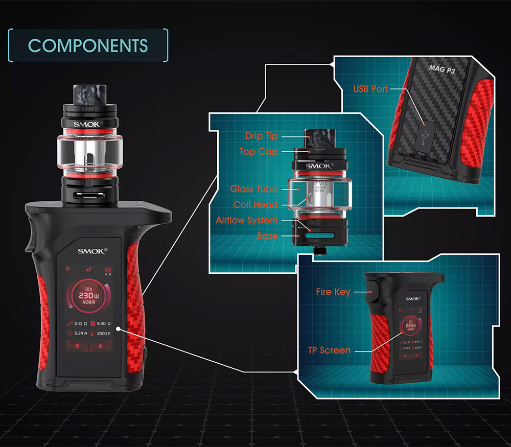 Smok Mag P3 Kit Components