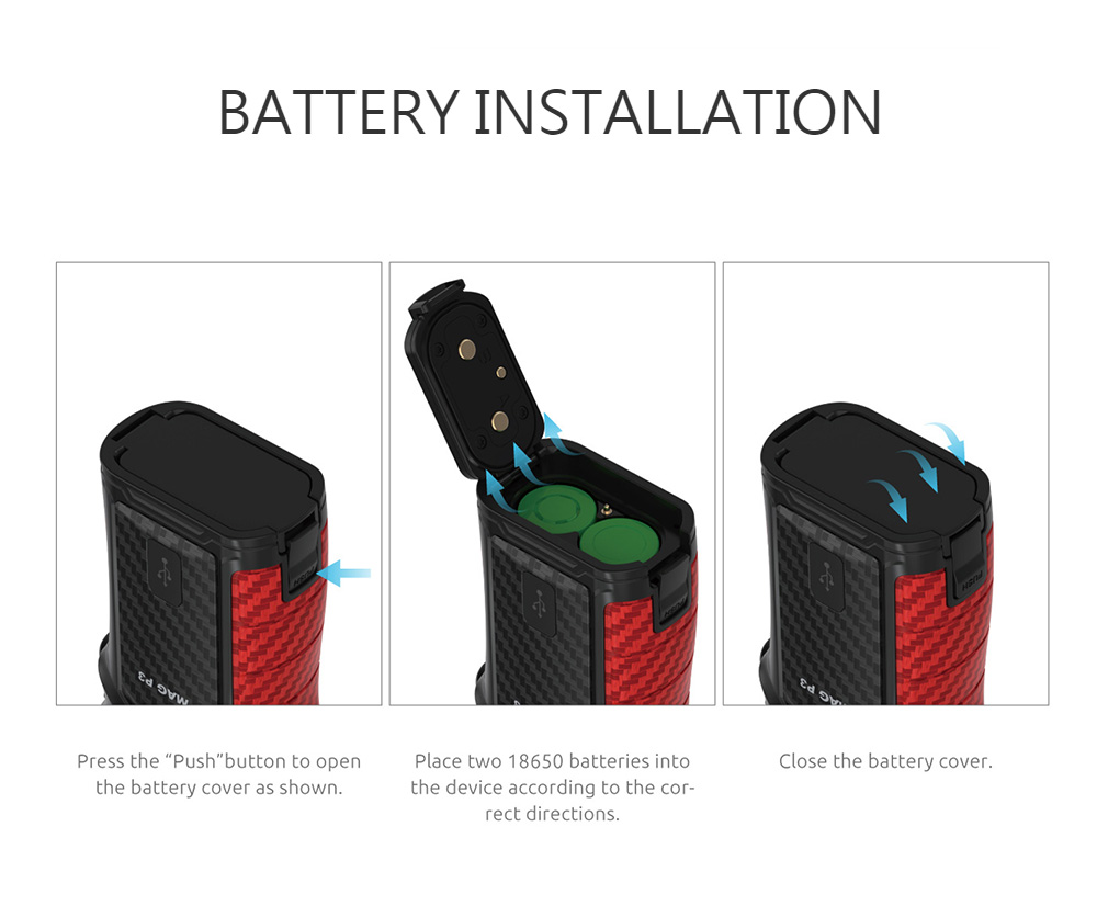 Smok Mag P3 Kit Battery Installation