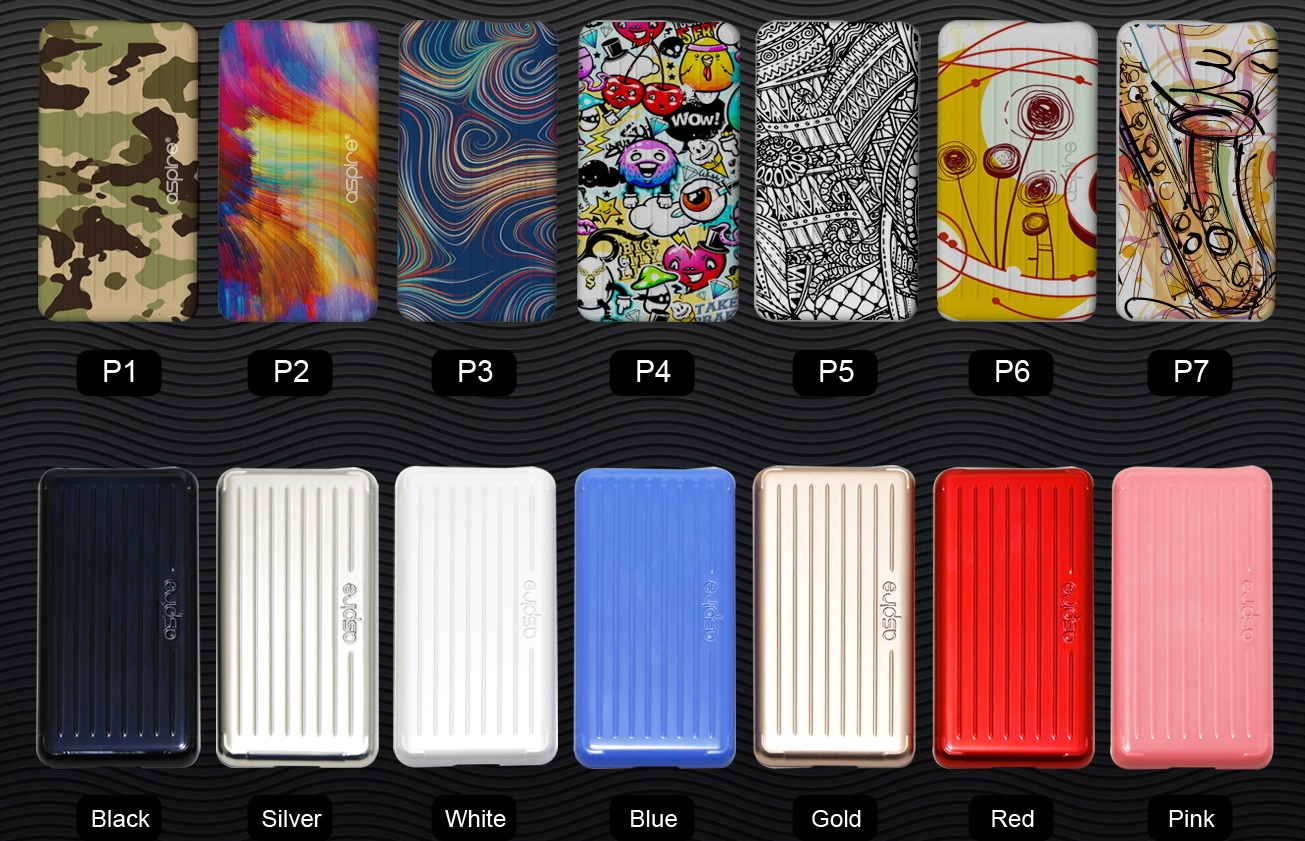 Aspire Puxos colorful cover
