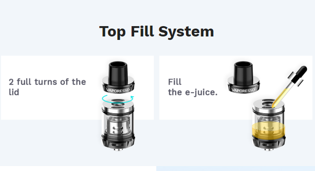 ThunderHead Creations Tauren One RTA Top filling system