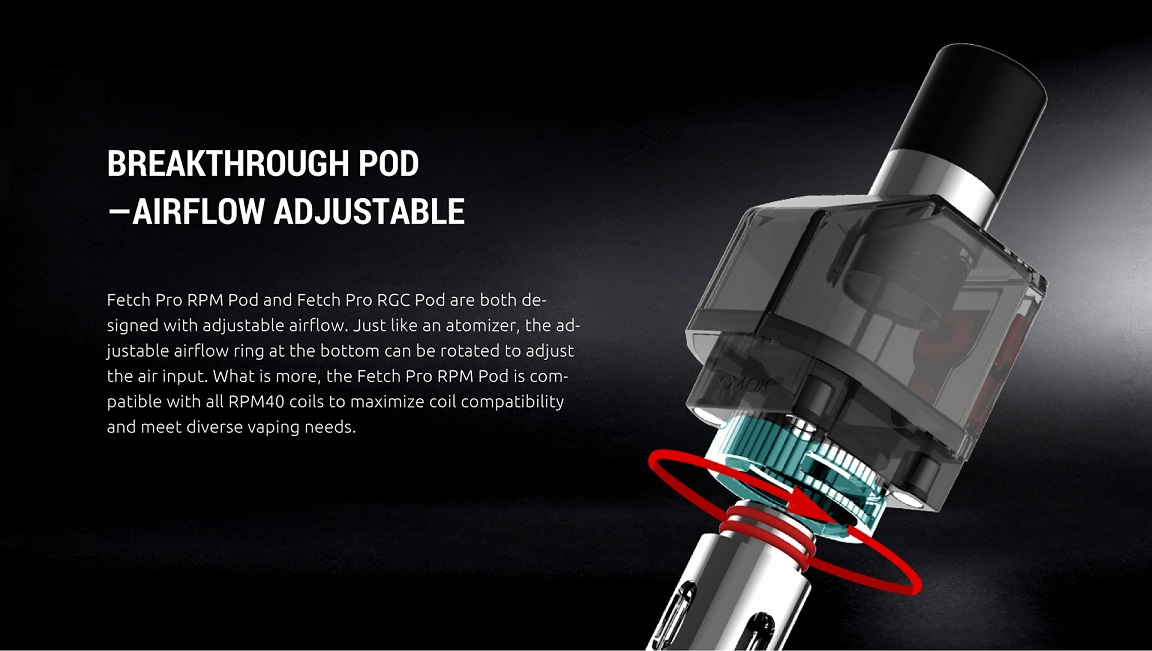 Fetch Pro Pod with Airflow Adjustable