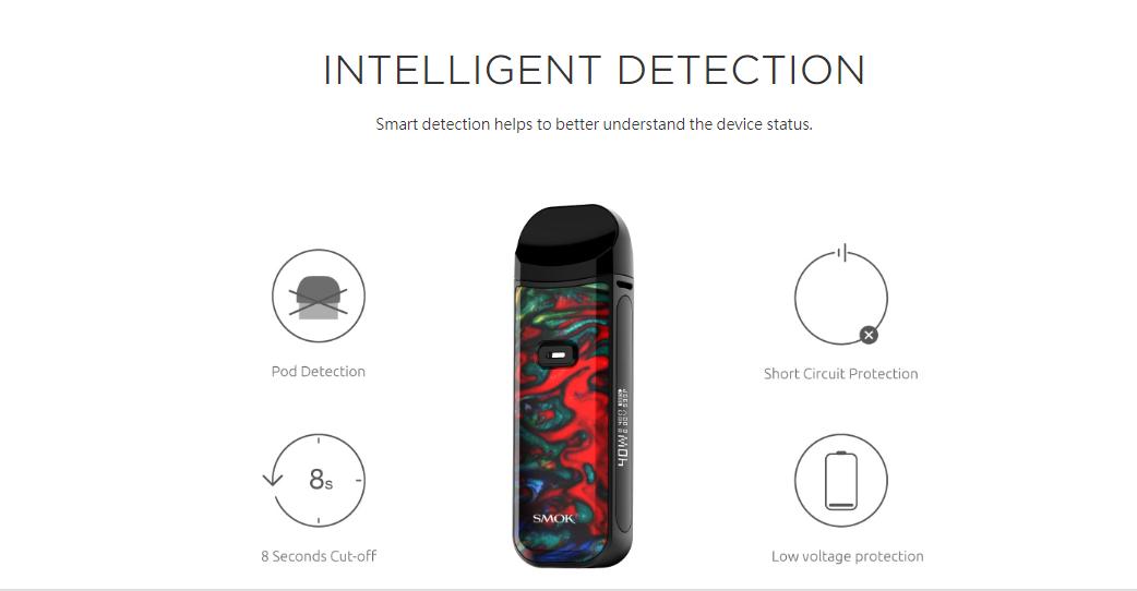 Smok Nord 2 Intelligent Detection