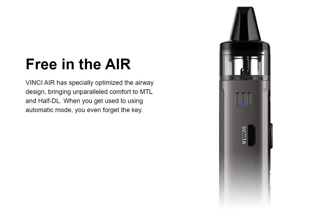 VINCI AIR Optimized Airway Design