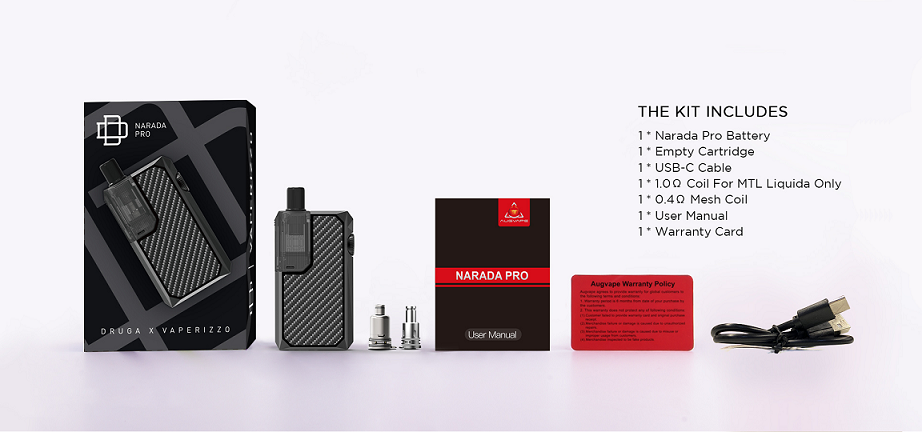 Augvape Narada Pro Kit Includes