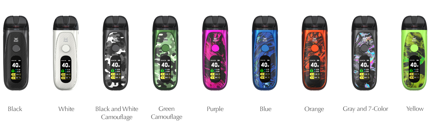 smok pozz x aviailable colors