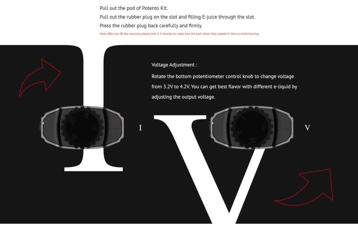 Advken Potento Pod Kit Voltage Adjustable