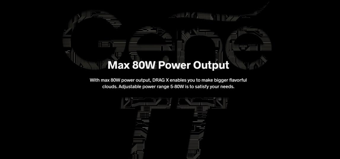 80W DRAG X Mod Pod Kit