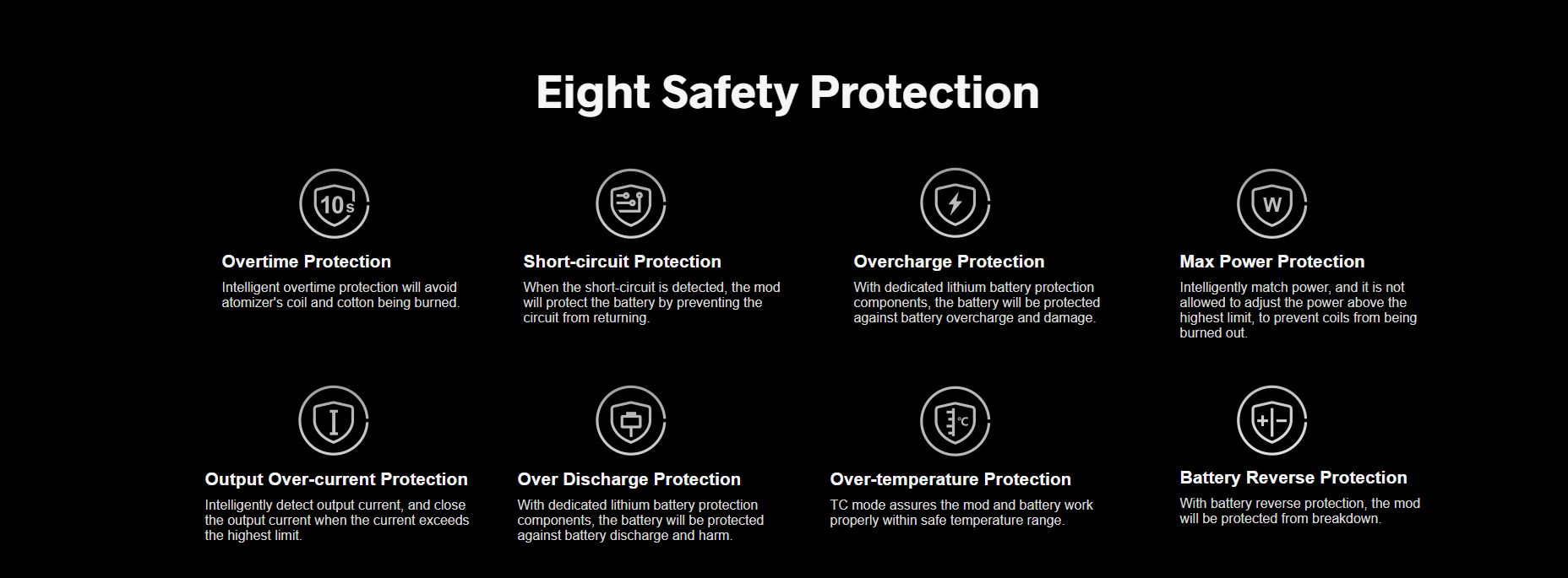 Drag X Eight Safety Protection