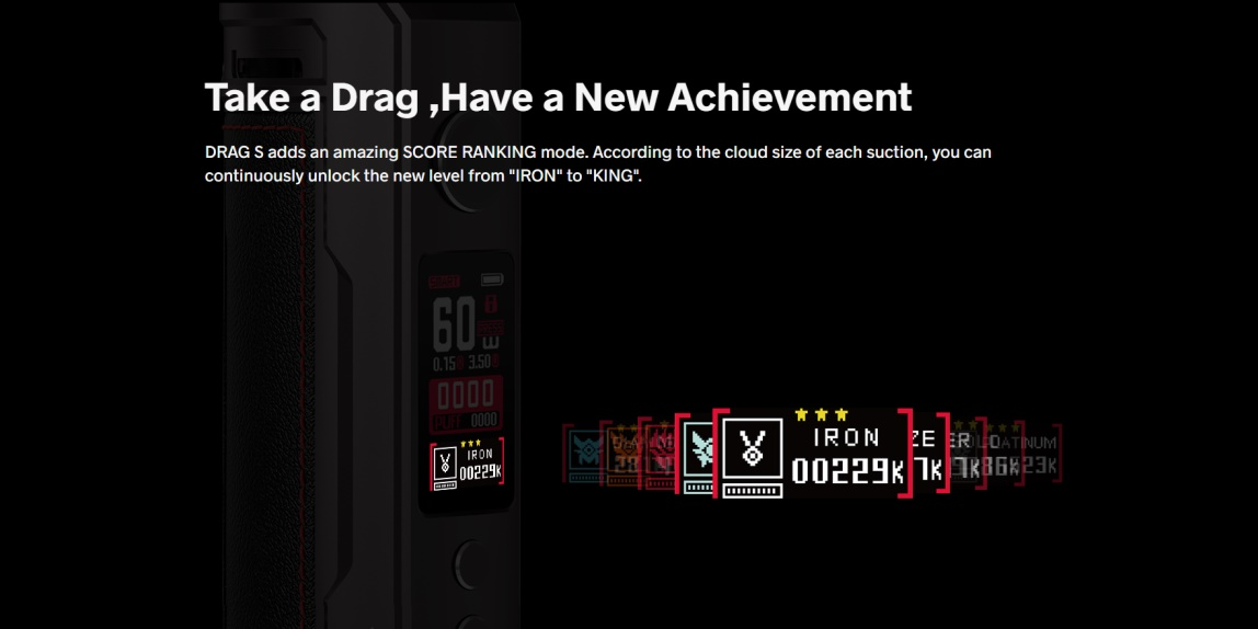VOOPOO Drag S SCORE Ranking Mode
