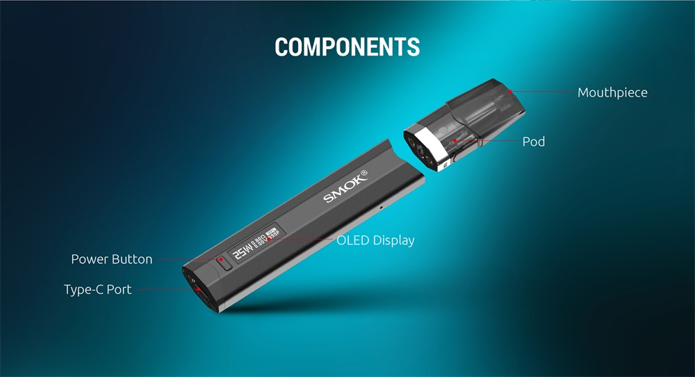SMOK Nfix Kit Components